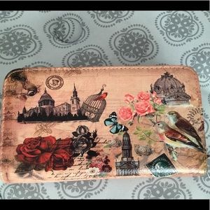 Handbags - COLLAGE ~ARCHITECTURE~BIRD~ ROSES~STAMP~WALLET NWT